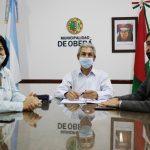 Firma de convenio entre el Gobierno de la ciudad de Oberá y la Universidad Católica de Salta