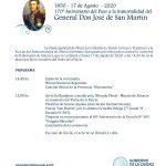 Acto por el 170° aniversario del fallecimiento del General San Martín