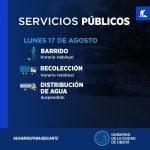 Servicios Públicos para el próximo feriado