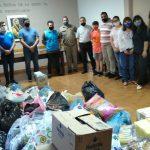 Cáritas de Catedral San Antonio recibió donación de la Agrupación 13 de Julio