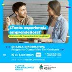 Charla Informativa Programa Comunidad de Mentores
