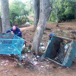 Tareas de desmalezamiento y limpiezas de espacios públicos