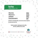 Nuevas tarifas para ingreso a Termas de la Selva
