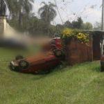 Despiste de un vehículo dejo daños materiales en Mártires