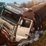 Despistó  un camión sobre ruta Nacional 14  y resultó con daños materiales