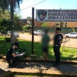 La Policía detuvo a un revoltoso que arrojó vidrios en pleno pavimento y ocasionó disturbios
