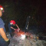 Bomberos Voluntarios y de la Policía sofocaron tres incendios en pocas horas