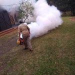 Fumigación en el polideportivo Ian Barney