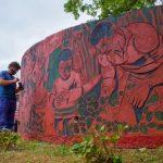 """Puesta en valor Mural """"A la tarefa"""""""