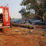 Bomberos de la Policía y Voluntarios sofocaron 4 incendios en la zona