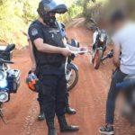 Operativo Rural en Guaraní dejó cinco detenidos, una motocicleta y dos licencias retenidas