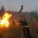 Sofocaron tres focos de incendio: en Oberá, Guaraní y Mártires