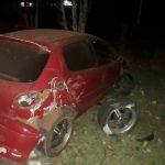 Despiste de un automóvil en la Ruta 5 dejó daños materiales
