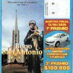 Números ganadores sorteo estímulo Bono San Antonio