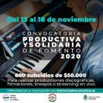 El INAMU y Cultura de Nación lanzan subsidios de $50 mil para grupos y solistas