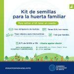 Entrega de kits de semillas para huerta familiar