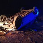 Despiste y vuelco de un vehículo dejó tres lesionados en Oberá