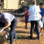 Asistieron y entregaron donaciones a una familia que perdió todo en un incendio en Oberá