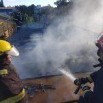 Principio de incendio provocó daños en un secadero de té de Oberá