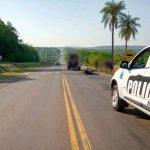 Colisión entre un vehículo y una motocicleta dejó un lesionado en Mártires