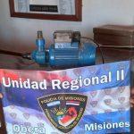 Recuperaron en Los Helechos una bomba de agua robada en Florentino Ameghino y demoraron a un adolescente