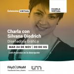 Hoy charla con la Diseñadora Gráfica Silvana Diedrich en la FAyD