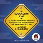 Rendirán el teórico de la licencia de conducir a través de la Plataforma Guacurarí