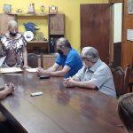 Apertura de sobres por licitación del Pabellón Argentino