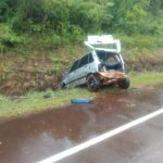 Despiste en la ruta 103 dejó como saldo un hombre lesionado