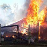 El fuego consumió una vivienda en Alberdi