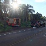 Principio de incendio provocó daños en un camión