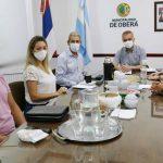 El Intendente recibió al Vicegobernador y Ministros