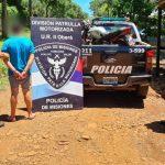 Circulaba en una motocicleta adulterada y fue detenido