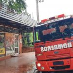 Principio de incendio ocasionó daños en un local comercial de Oberá