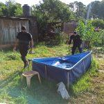 La policía recuperó dos piletas de lona robadas en el barrio 70 Viviendas y Villa Stemberg