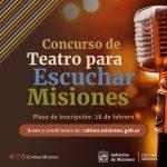 Concurso de teatro para escuchar Misiones