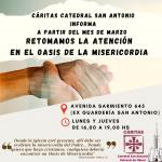 Nuevos horarios de atención al público de Cáritas Catedral San Antonio