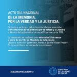 Acto por el Día Nacional de la Memoria, por la Verdad y la Justicia