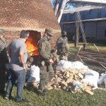 Gendarmería Nacional incineró marihuana por más de ochocientos millones y secuestró mercadería por más de cinco millones de pesos