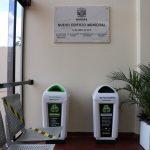 Instalación de cestos para la clasificación de residuos