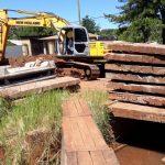 Vialidad trabaja en saneamiento y pavimentación en distintos puntos de la ciudad de Oberá