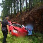 Un hombre resultó lesionado tras despistar con su automóvil en Ruta 14