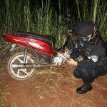Recuperaron una motocicleta robada y oculta en un monte