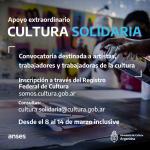 """A partir de lunes inscriben en """"Cultura Solidaria"""""""