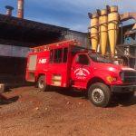 Principio de incendio ocasionó daños en un secadero de Alberdi