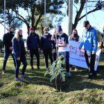 Estudiantes del Instituto Concordia plantaron árboles en el Parque de las Naciones