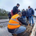 Se cortó el paso por el puente sobre el arroyo Pindaytí en la RP Nº2 y garantizan circulación por caminos alternativos
