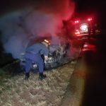 Un vehículo fue consumido por un incendio en Villa Bonita