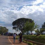 Corte de ruta en la rotonda de Campo Viera