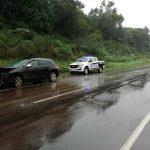 Despiste de un vehículo dejó daños materiales en Mártires